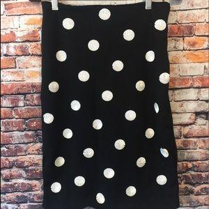 Black sequin White House Black Market pencil skirt
